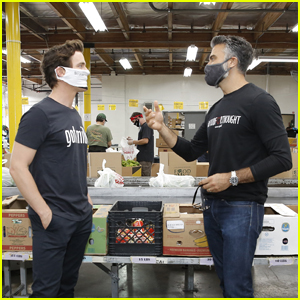 Matt Bomer & Jaime Camil Kick Off #FoodForThought Mission & Volunteer at LA Food Bank!