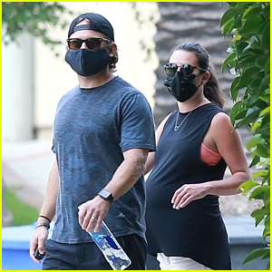 Pregnant Lea Michele Joins Husband Zandy Reich for a Walk Around the Neighborhood