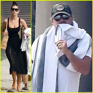 Leonardo DiCaprio Hangs Out at the Beach with Girlfriend Camila Morrone