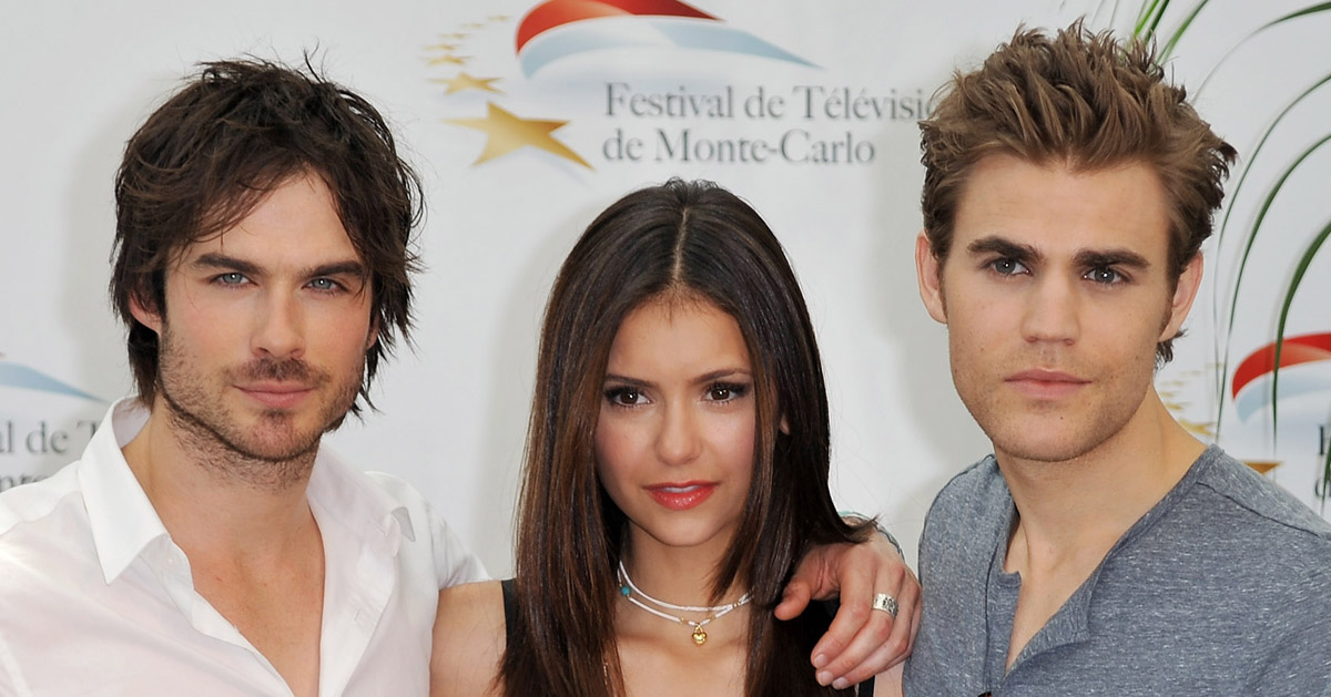Nina Dobrev'S Answer To This 'Vampire Diaries' Question Is Getting Fan  Attention! | Ian Somerhalder, Nina Dobrev, Paul Wesley, Vampire Diaries |  Just Jared