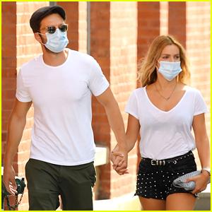 Sebastian Stan Holds Hands with Girlfriend Alejandra Onieva in New York City