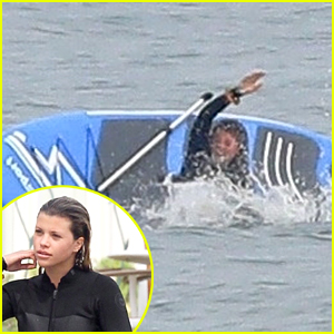 Sofia Richie Flips Over In The Ocean With Her Paddleboard!