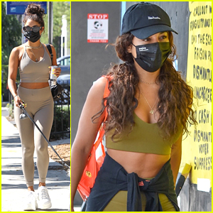 Vanessa Hudgens Shows Off Toned Midriff After Workout Class in LA