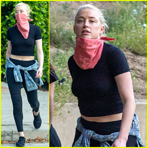 Amber Heard Goes for a Late Afternoon Hike in L.A.