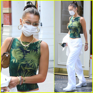 Bella Hadid Rocks White Pants While Out in NYC