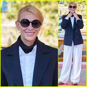 Cate Blanchett Makes a Chic Arrival to Venice Film Festival 2020