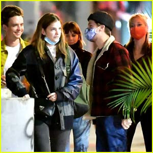 Dylan Sprouse & Barbara Palvin Join Friends for a Fun Saturday Night on the Town