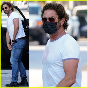 Newly Single Gerard Butler Masks Up While Stepping Out in L.A.