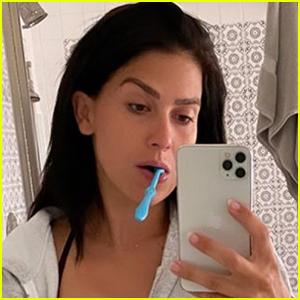 Hilaria Baldwin Shares Photo 'Multitasking' While Breastfeeding Son & Brushing Her Teeth