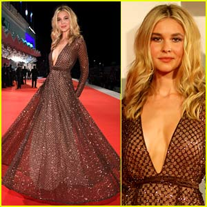 Newcomer Isabel May Looks Stunning at Her First Venice Film Festival Premiere!
