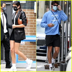 New Couple Kaia Gerber & Jacob Elordi Exit Her Apartment in NYC