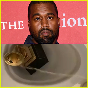 Kanye West Seemingly Urinates on His Grammy Award Statue in Shocking Video