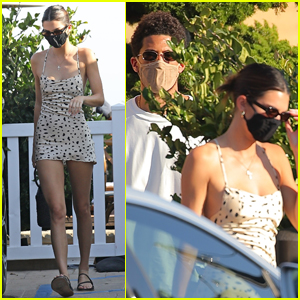 Kendall Jenner Grabs Lunch with Rumored Boyfriend Devin Booker at Nobu