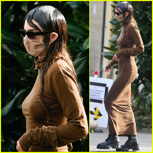 Kendall Jenner Sports Wet Hair While Out During Milan Fashion Week