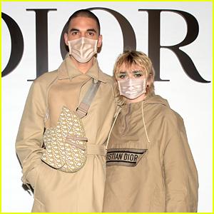Maisie William & Boyfriend Reuben Selby Coordinate Their Looks For Dior's Paris Fashion Week Show