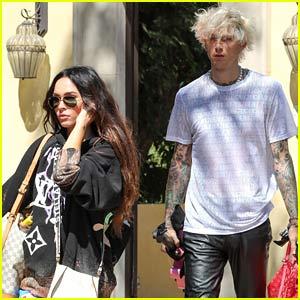 Megan Fox & Boyfriend Machine Gun Kelly Catch a Private Flight Together