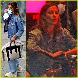 Brad Pitt's Rumored Girlfriend Nicole Poturalski Spotted on Photo Shoot Set in Italy