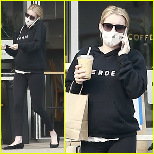 Pregnant Emma Roberts Heads Out on Coffee Run