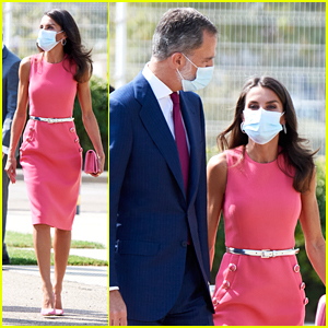 Spain's Queen Letizia Re-Wears Pink Michael Kors Dress For Third Time at Newspaper Anniversary
