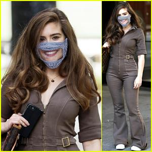 Rachel Shenton Wears a Lip Reading Face Mask for TV Appearance!