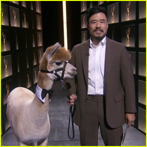 Randall Park Takes Emmy Awards 2020 Stage with an Alpaca!