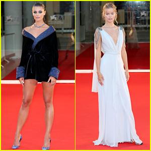 Models Taylor Hill & Frida Aasen Look Stunning on the Venice Film Festival Red Carpet!