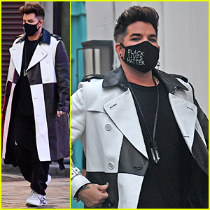 Adam Lambert Masks Up While Stopping By a Theater in London