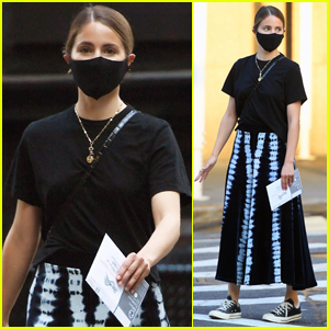 Dianna Agron Heads Out to Cast Her Vote in NYC