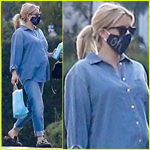 Emma Roberts Dresses in Denim After Her Baby Shower