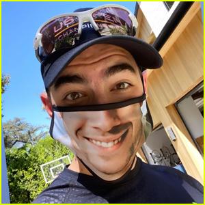 Joe Jonas Wears Face Mask of Brother Nick Jonas' Smile!