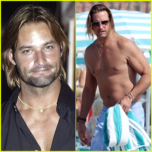 'Lost' Star Josh Holloway Goes Shirtless at the Beach in L.A.