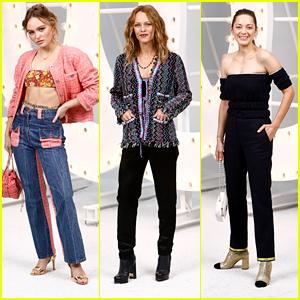 Lily Rose Depp Joins Mom Vanessa Paradis & Marion Cotillard at Chanel's Show During Paris Fashion Week