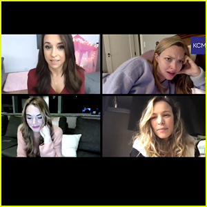 Lindsay Lohan & Rachel McAdams Recreate Famous 'Mean Girls' Phone Call With Lacey Chabert & Amanda Seyfried