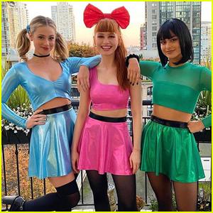 Lili Reinhart, Madelaine Petsch, & Camila Mendes Dress Up as Powerpuff Girls for Halloween!