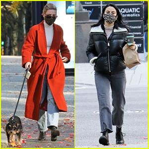 Lili Reinhart & Camila Mendes Go For Sunday Morning Walks