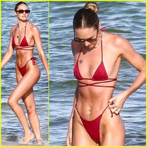 Model Candice Swanepoel Shows Off Her Incredible Figure In a Bikini