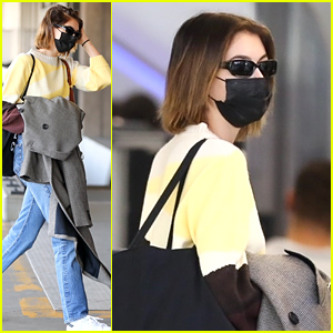 Kaia Gerber Takes To The Skies For Flight Ahead of Thanksgiving