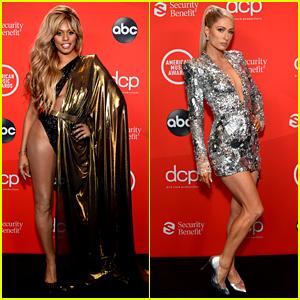 Laverne Cox, Paris Hilton, & More Glam Ladies Presented at the American Music Awards 2020