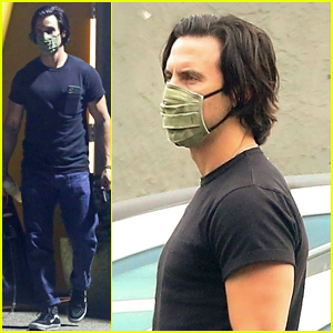Milo Ventimiglia Brings His Dog for Workout at Private Gym