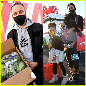 Steph & Ayesha Curry's Kids Help Hand Out Food & Gifts During Eat Learn Play's Christmas Drive