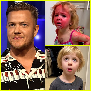 Imagine Dragons Singer Dan Reynolds' Daughter Tried to Turn Her Twin Sister Into Spider-Man (Video)