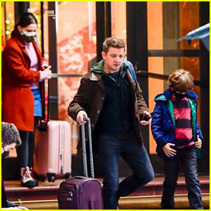 Jeremy Renner Films 'Hawkeye' Scenes, Seemingly with Clint Barton's Kids!
