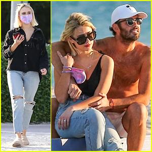Maria Bakalova Enjoys The Sunshine in Miami On The Beach With Friends