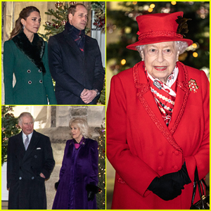 Kate Middleton & Prince William Reunite With British Royal Family During Social Distance Holiday Event