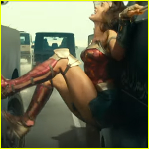 Gal Gadot Pushes Two Cars Apart With Just Her Legs in New 'Wonder Woman 1984' Clip