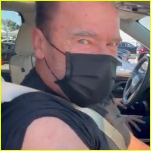 Arnold Schwarzenegger Receives Coronavirus Vaccine & References 'Terminator'!