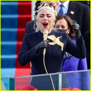 Lady Gaga Performs the National Anthem at Presidential Inauguration Ceremony 2021
