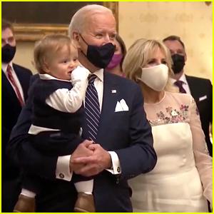 Joe Biden Holds Grandson Beau While Watching 'Celebrating America' Event