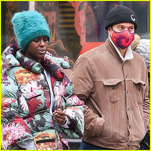 Joshua Jackson & Jodie Turner-Smith Bundle Up While Out in New York City
