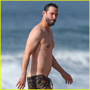 Keanu Reeves Looks Fit Shirtless at the Beach in Malibu